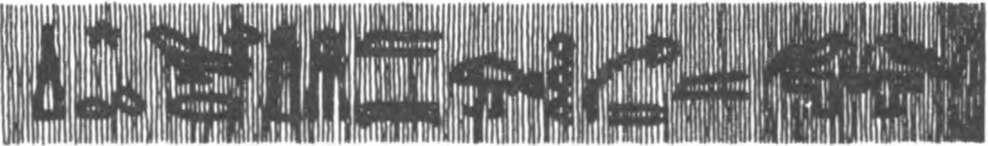 Рис. 21. Древнеегипетская надпись: «Сотис великая блистает на небе, а Хапи (Нил) выходит из берегов своих»
